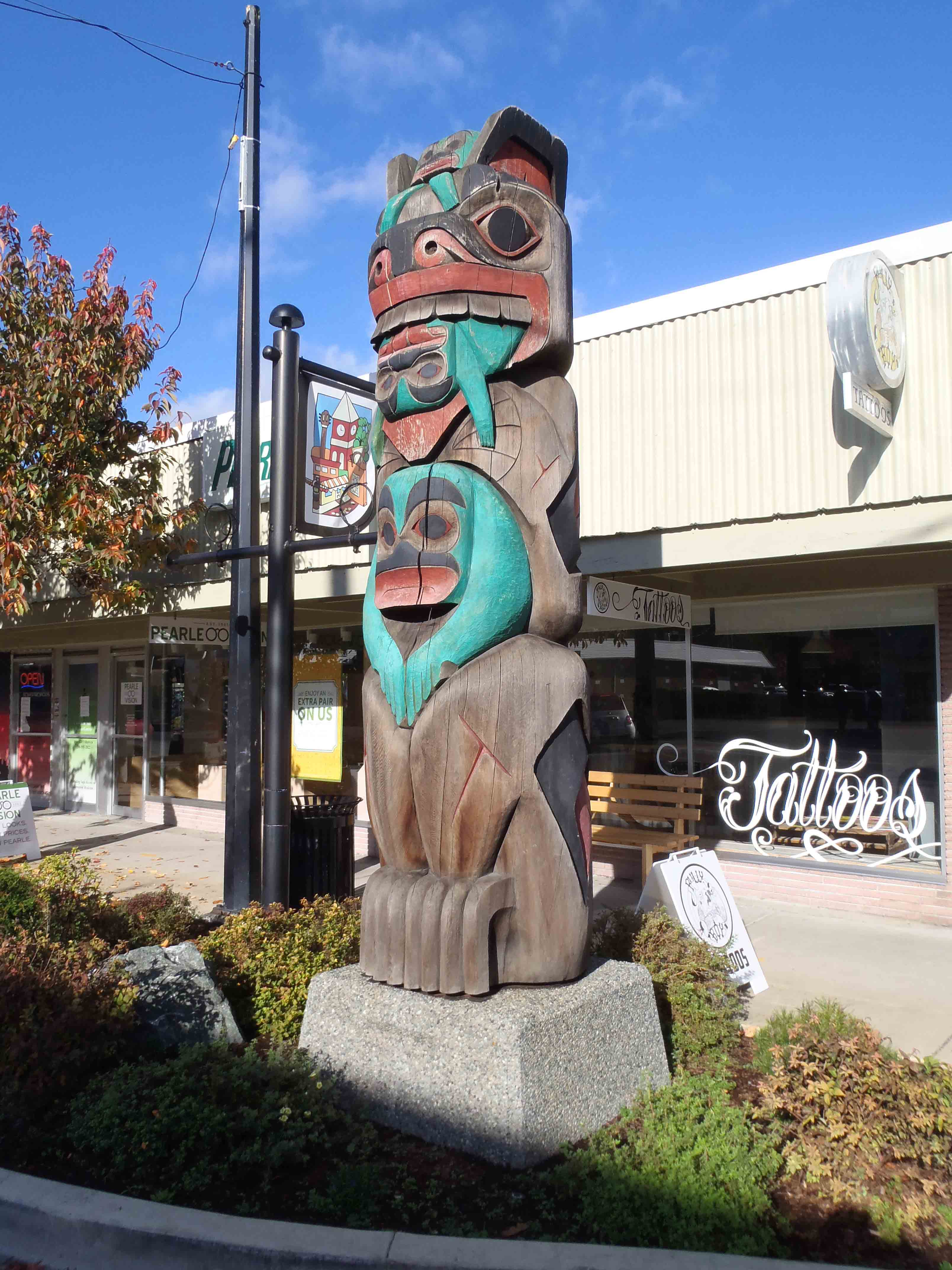 Abolishment_Pole, Station Street, Duncan, B.C.