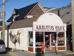 Arbutus Cafe, Kenneth Street at Jubilee Street, Duncan, B.C.