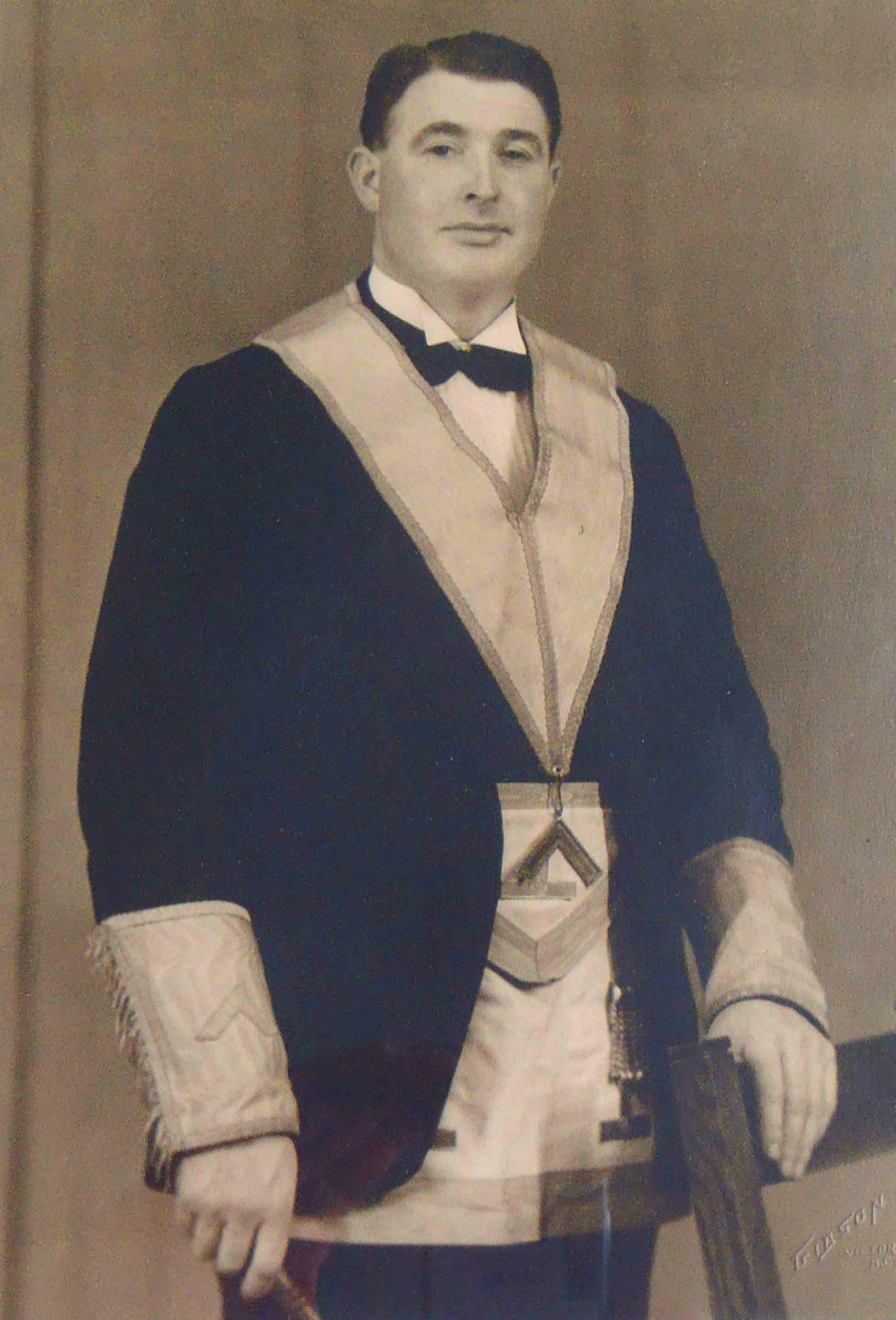 Claude Green in Masonic regalia, circa 1941 (Photo courtesy of Temple Lodge, No.33 A.F.&A.M.)