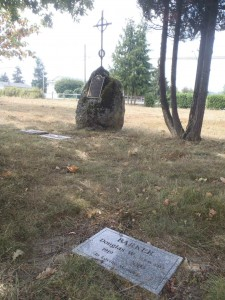 Douglas William Barker (1919-2003), grave, St. Mary's Somenos Anglican Cemetery, North Cowichan, B.C.