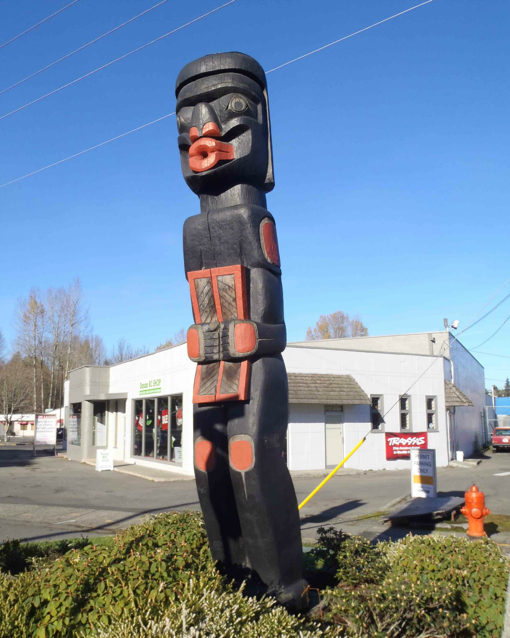 Dzunuk'wa pole, Government Street at Kenneth Street, Duncan, B.C.