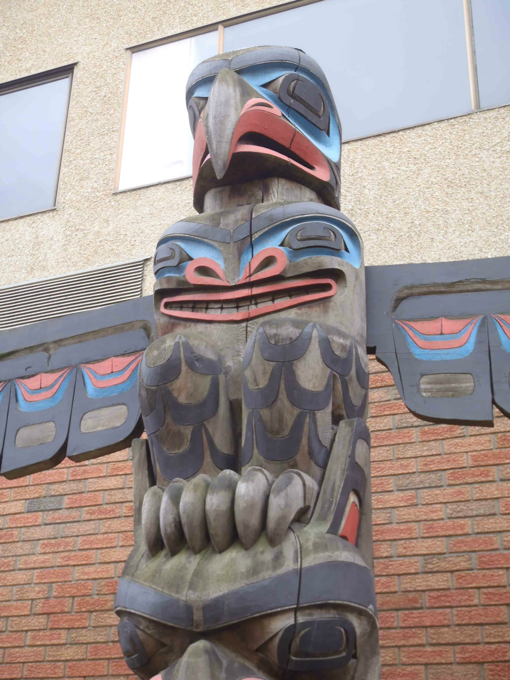 Eagle Pole, Lois Lane, off Canada Avenue, Duncan, B.C. Eagle figure