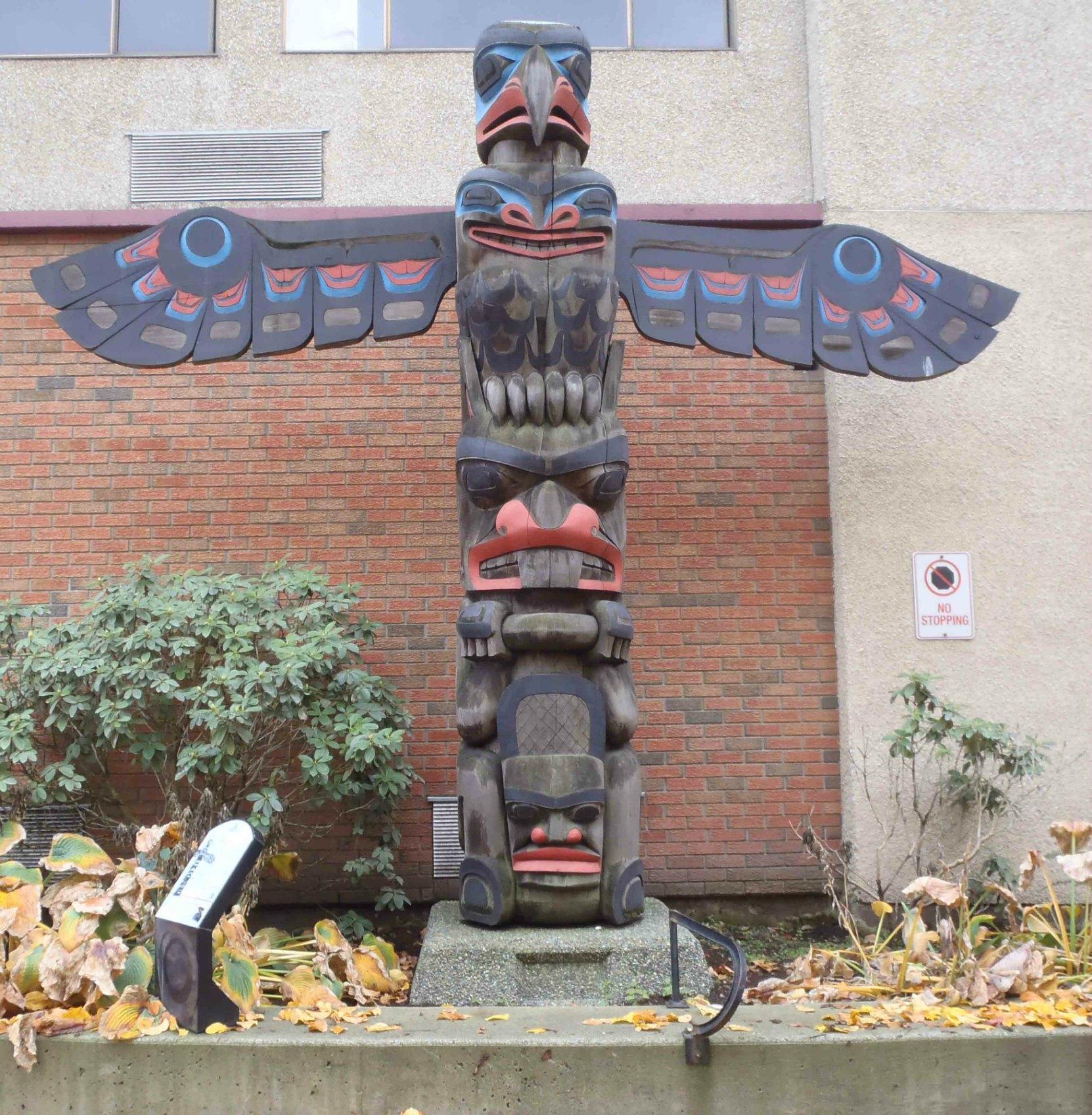 Eagle Pole, Lois Lane, off Canada Avenue, Duncan, B.C.
