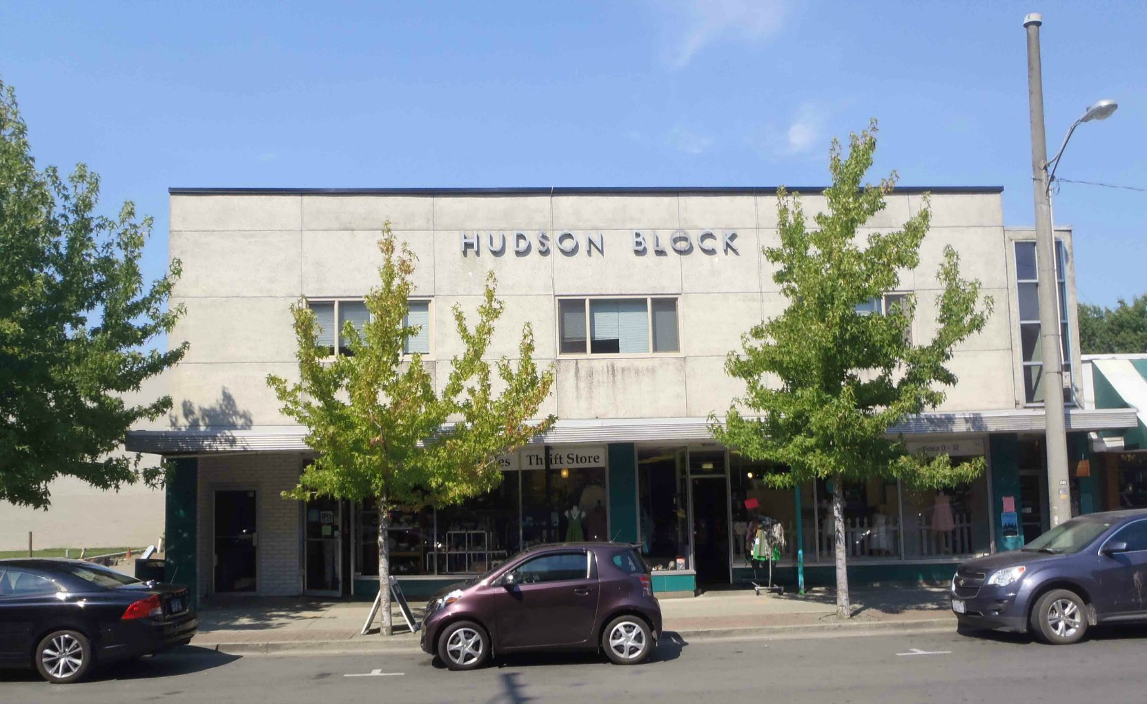 Hudson Block, Station Street, downtown Duncan, B.C,