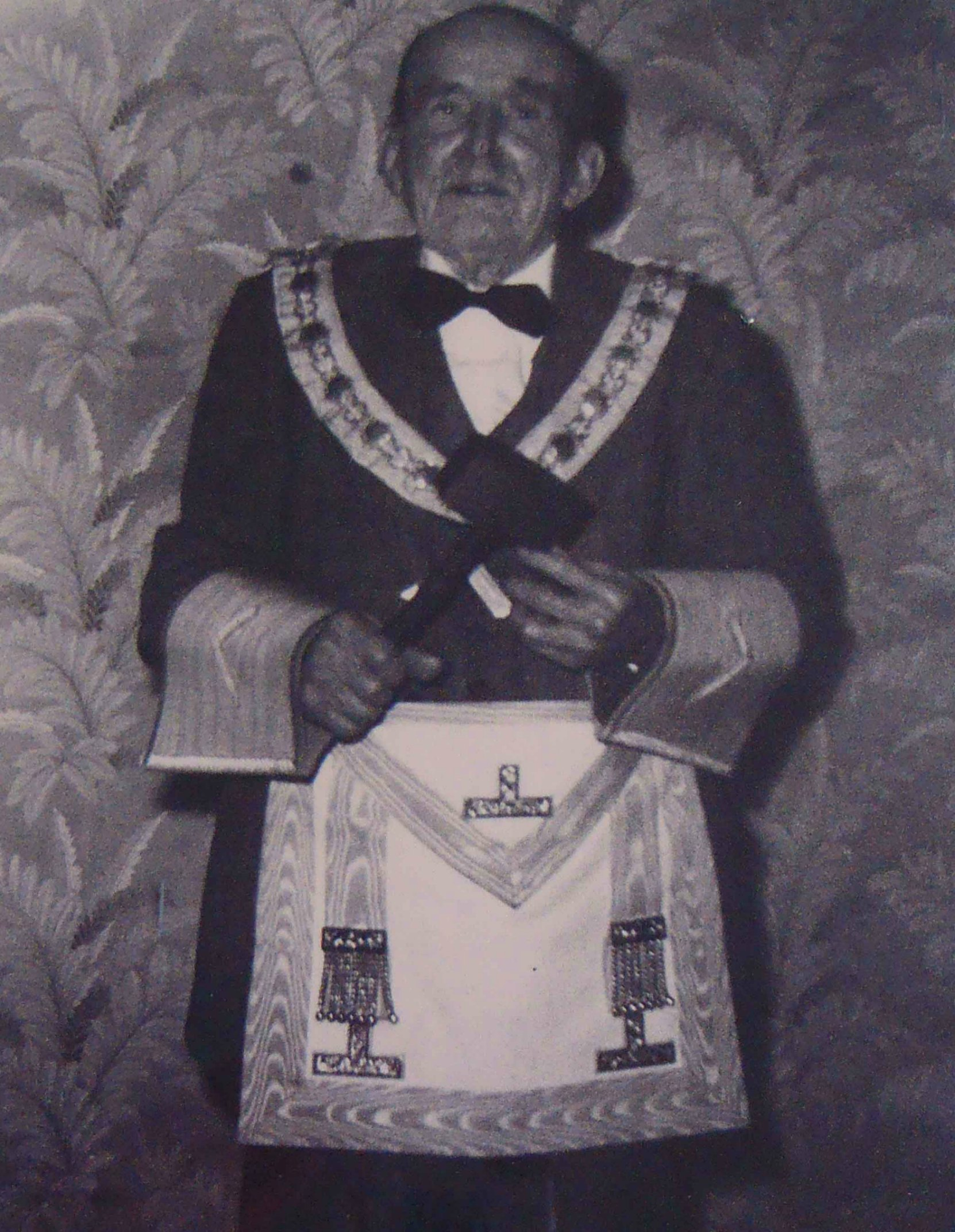 James McLeod Campbell in Masonic regalia, aged 94 in 1958