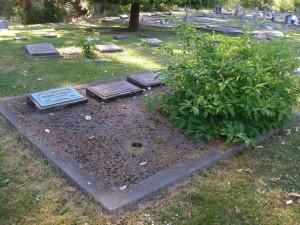 Kenneth Forrest Duncan grave, St. Peter's Quamichan cemetery