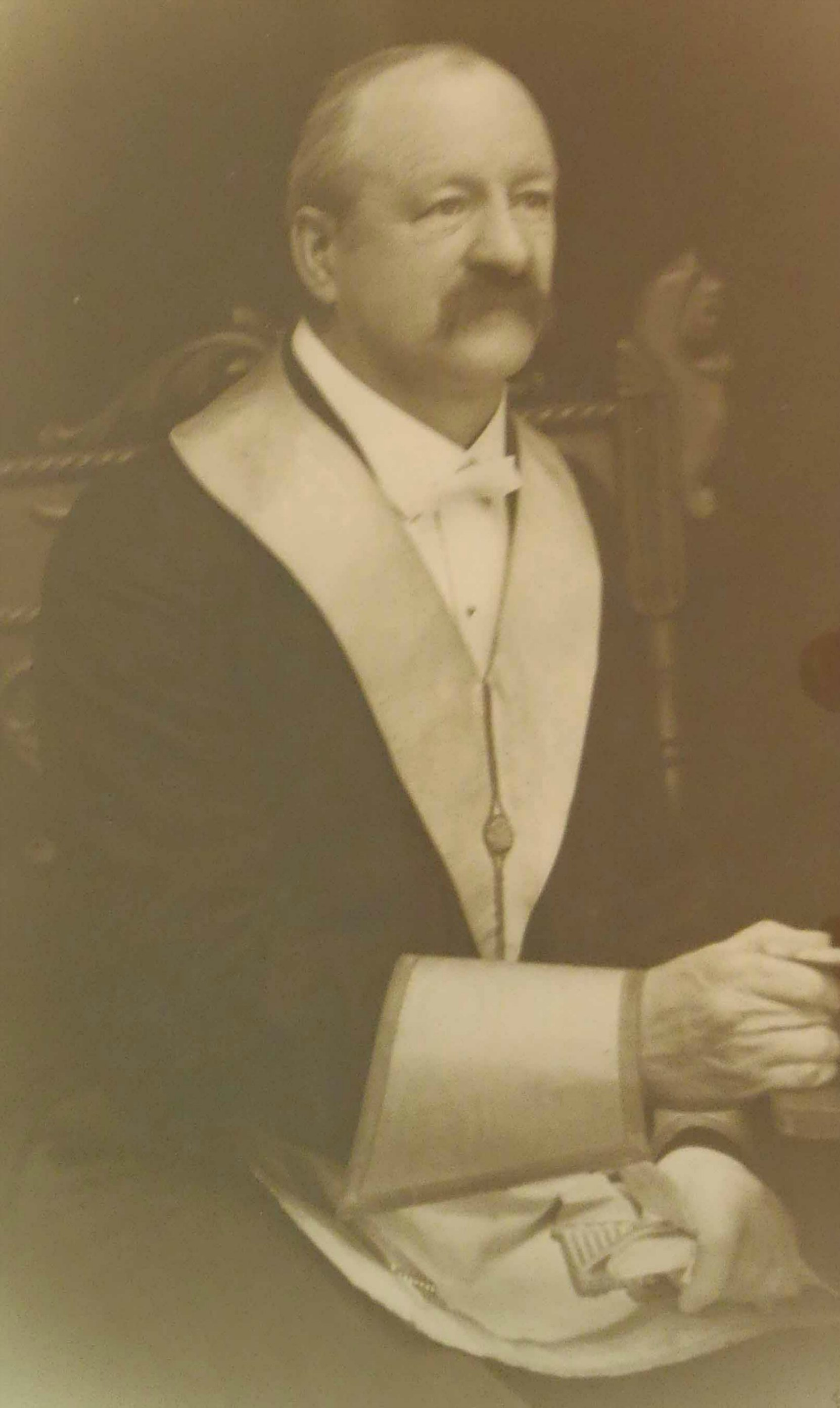 Roland Clayton Fawcett in Masonic regalia, circa 1915 (Photo courtesy of Temple Lodge, No.33 A.F.&A.M.)