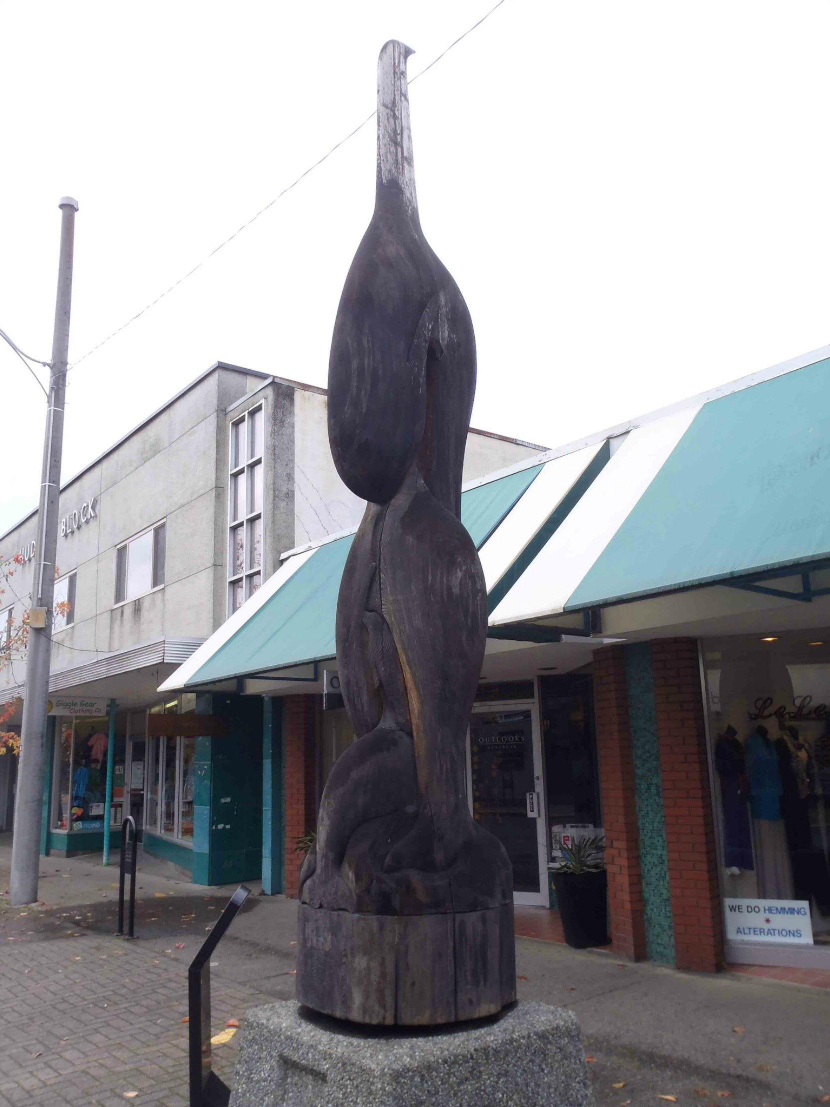Transition totem pole, Station Street, Duncan, B.C.