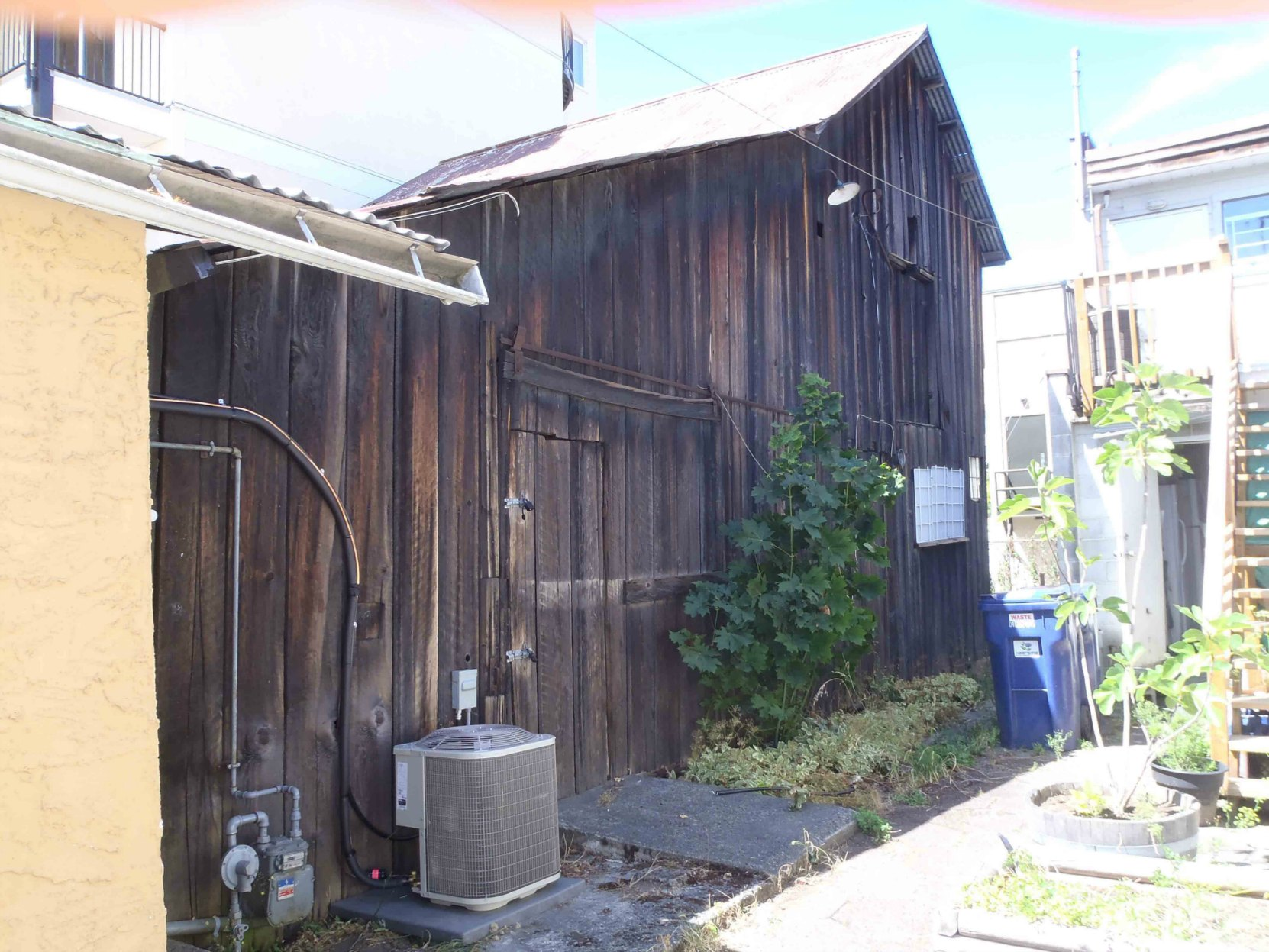 Dr. Watson Dykes' horse barn, behind 163 Kenneth Street, downtown Duncan, B.C.