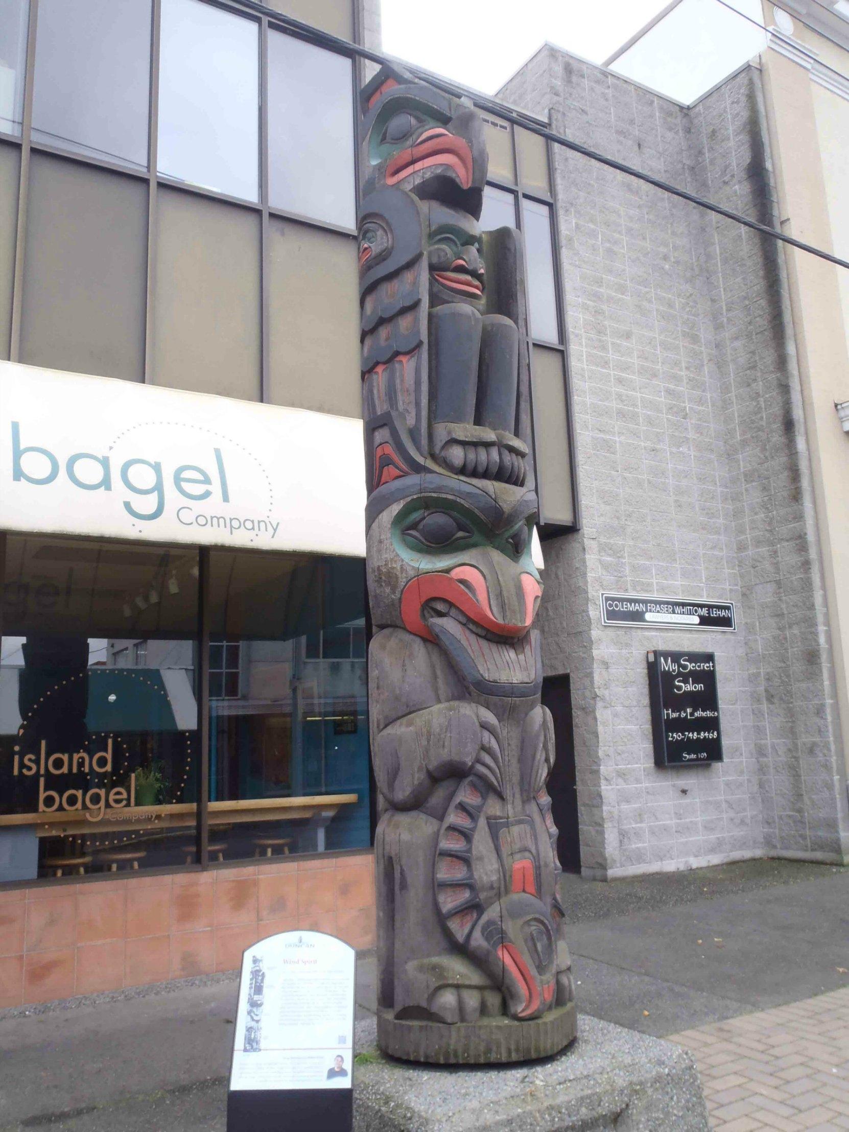Wind Spirit totem pole, Station Street, Duncan, B.C.