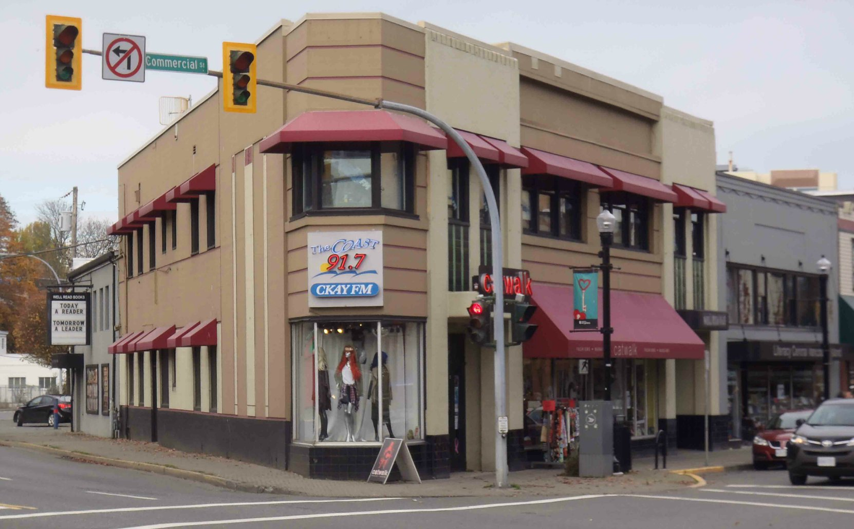 Present day CKAY-FM offices, Commercial Street, Nanaimo, B.C.
