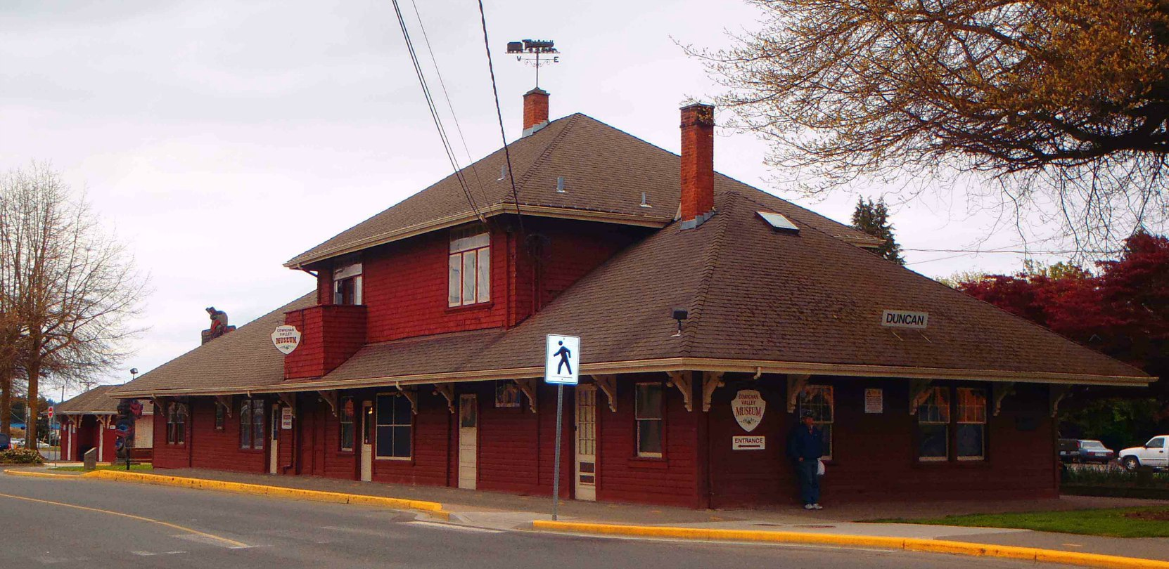 The former Esquimalt & Nanaimo (E&N) Railway Station, now the Cowichan Valley Museum, Canada Avenue, Duncan, B.C.