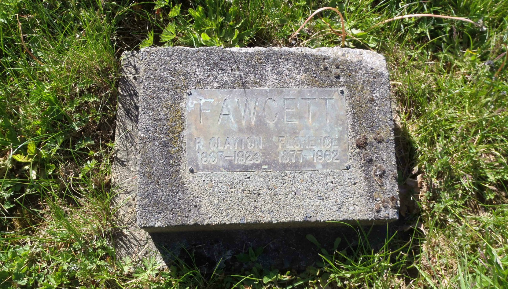 Roland Clayton Fawcett grave marker, St. Mary's Somenos Anglican cemetery, Somenos Road