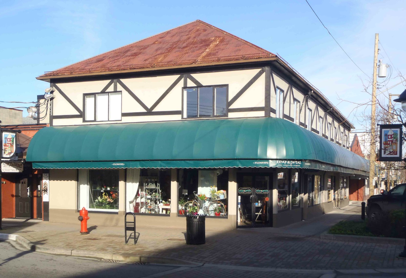 101 Craig Street. Built circa 1893 by Christopher Dobson for his wheelwright and carriage making business.