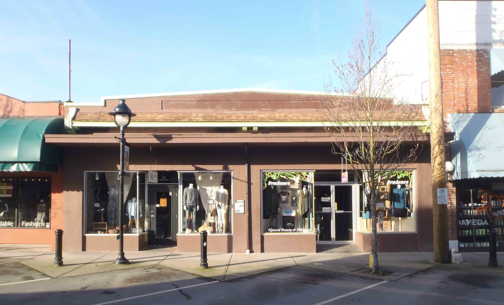 151-155 Craig Street. Built by architect Douglas James in 1929 for Hugh Savage's Cowichan Leader newspaper.