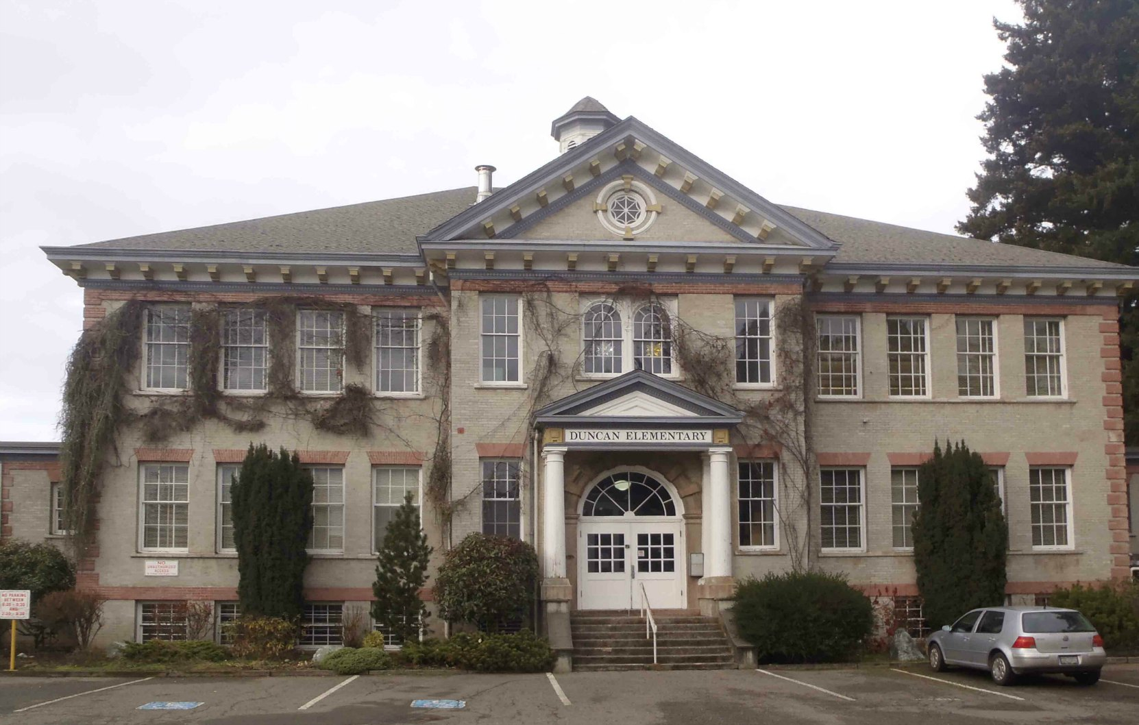 Duncan Elementary School, front elevation