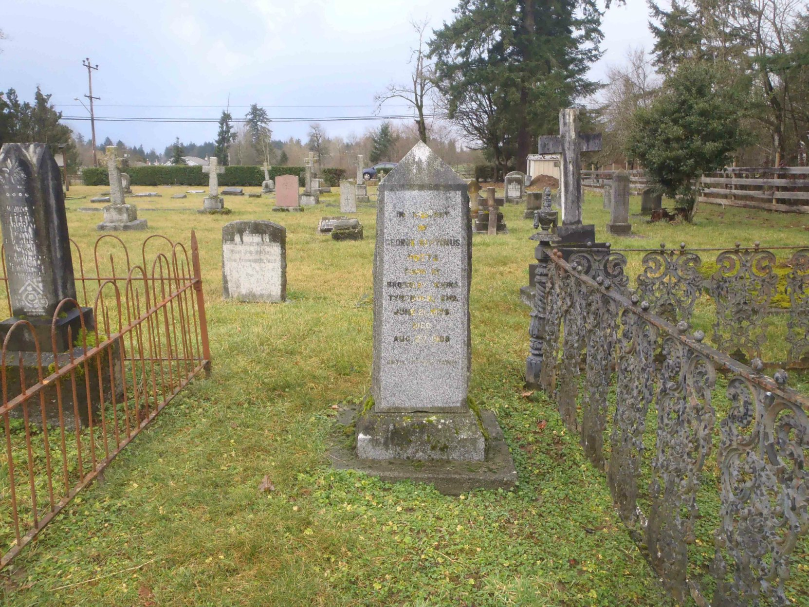George Septimus Potts grave, St. Mary's Somenos Anglican Cemetery, North Cowichan