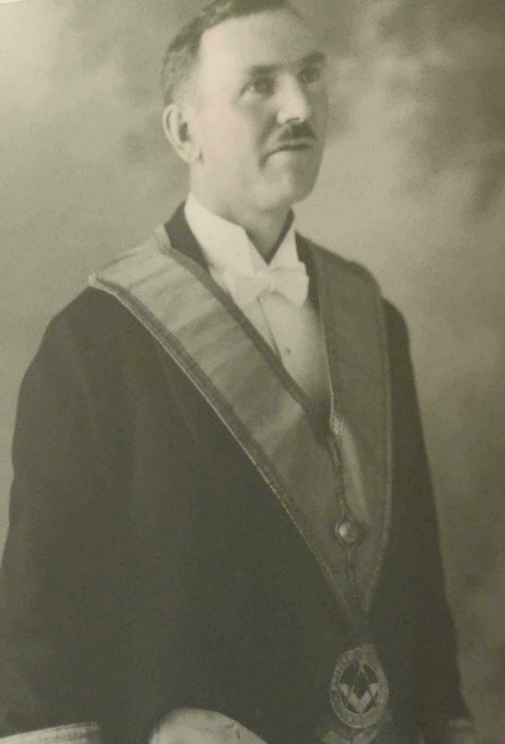 Hugh George Savage in Masonic regalia, circa 1922. Hugh Savage was the owner and publisher of the Cowichan Leader newspaper
