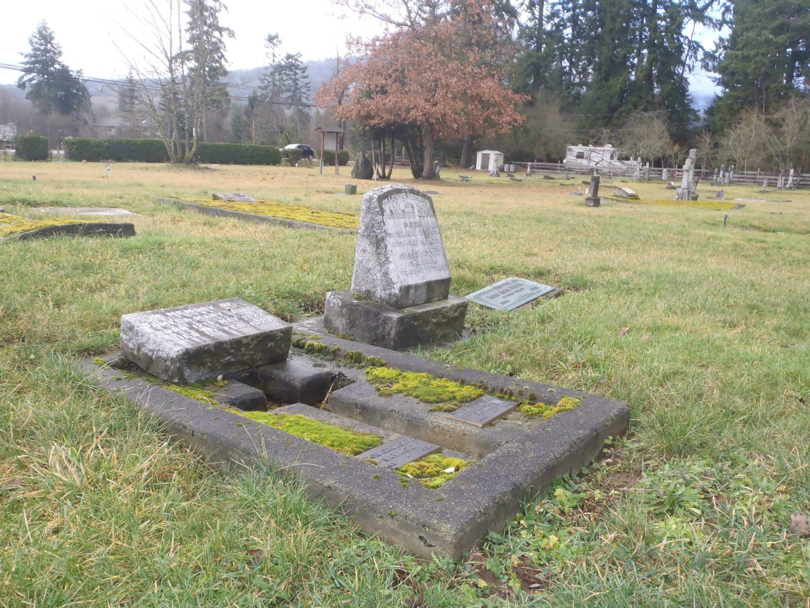 Hugh George Savage grave, St. Mary's Somenos Anglican Cemetery, North Cowichan