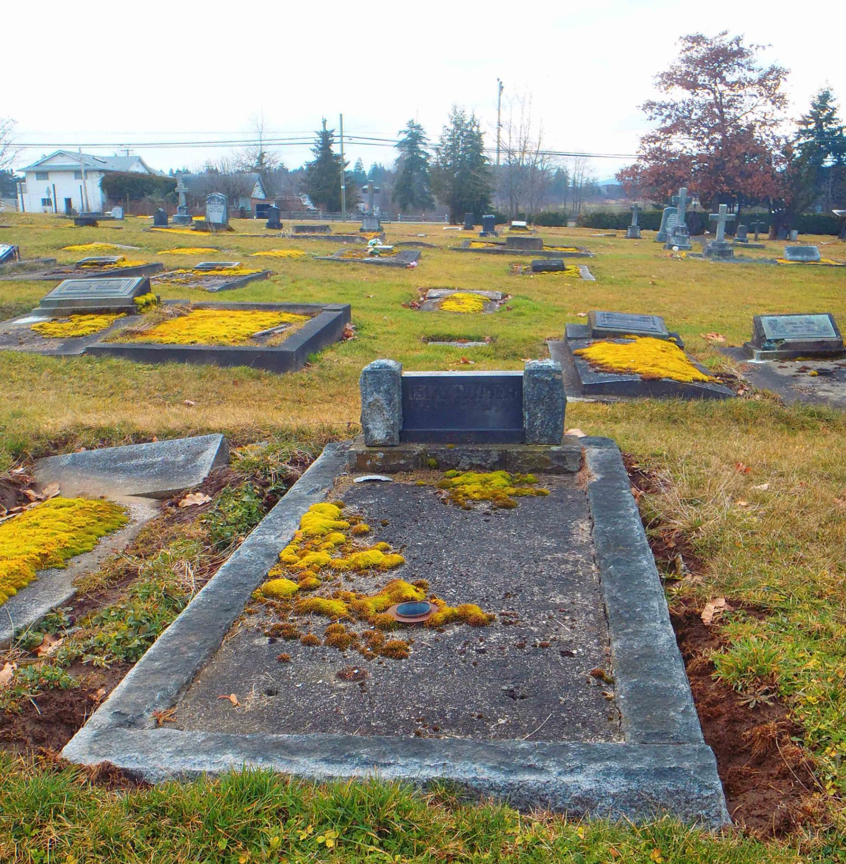 J. Islay Mutter grave, St. Mary's Somenos Anglican Cemetery, North Cowichan