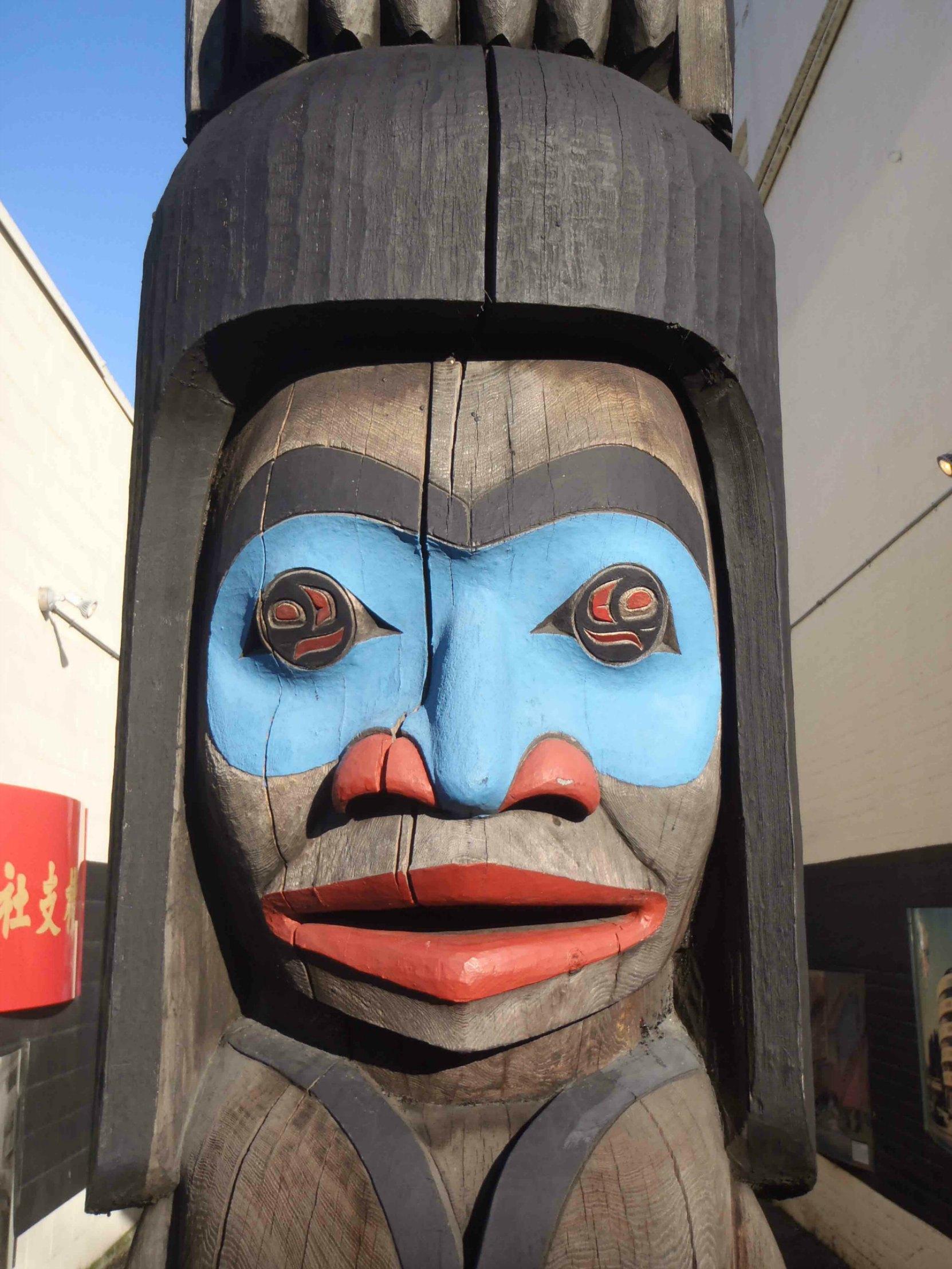 Owl Spirit, Chief figure, face detail