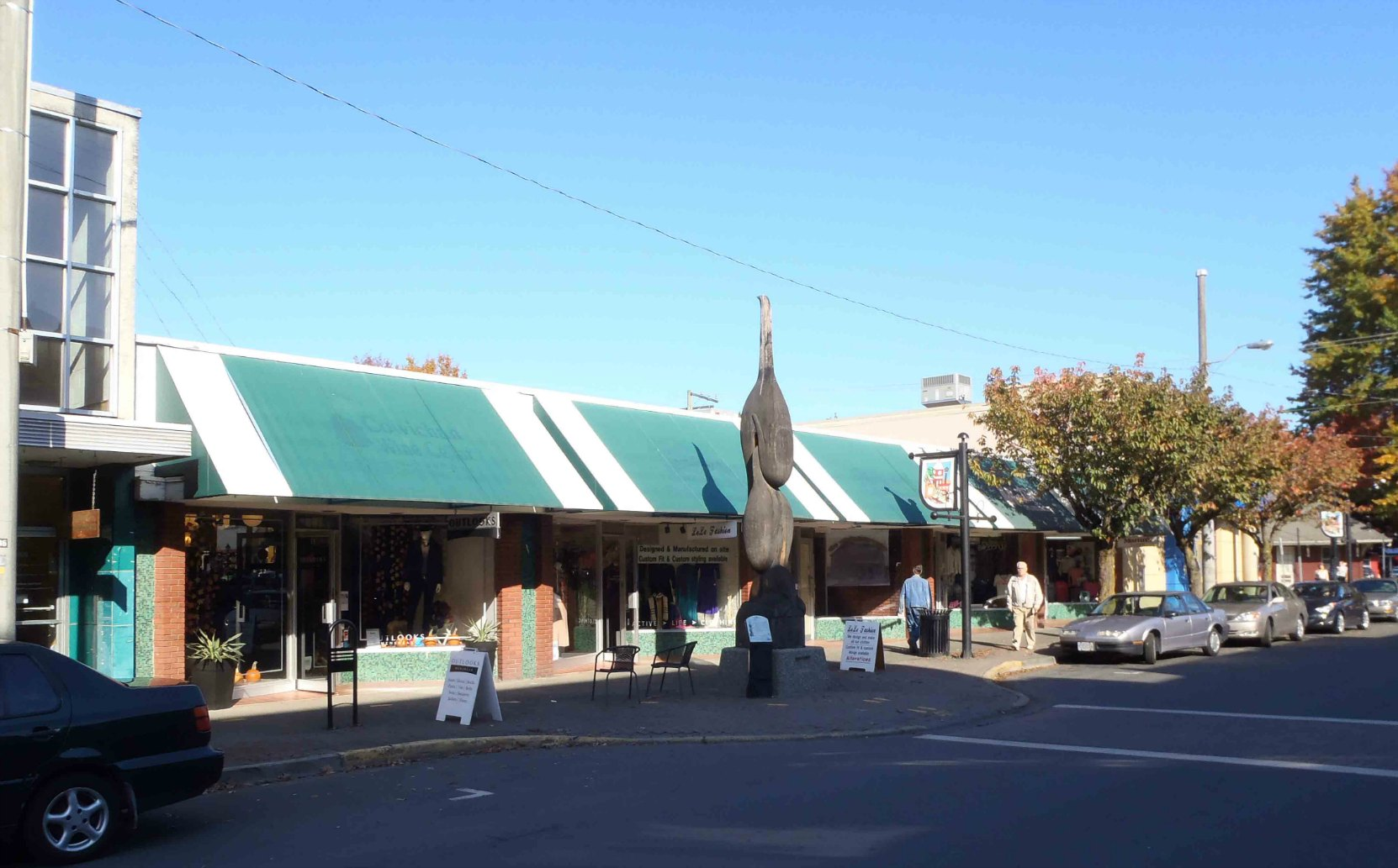 This block of five stores at 33 to 53 Station Street was built by Cowichan Estates Ltd. in 1959