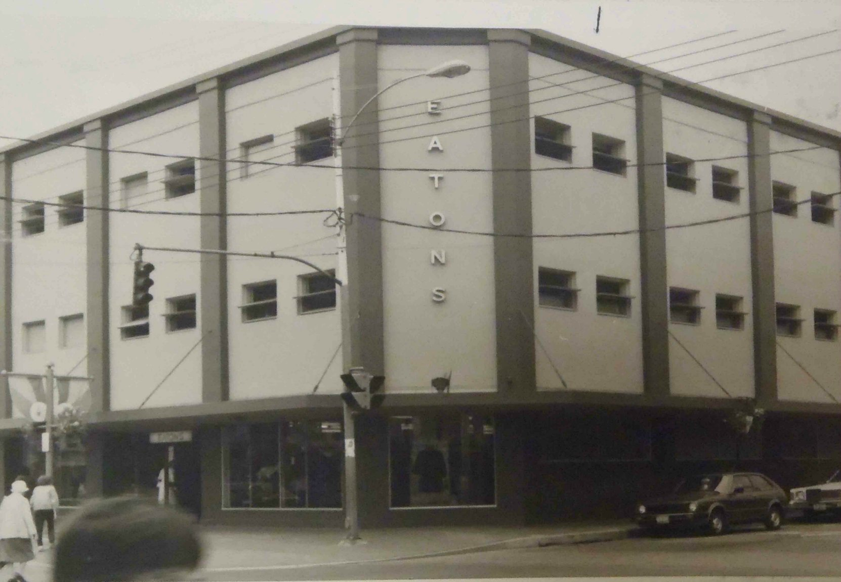 Cowichan Merchants Building as an Eatons department store, circa 1983.